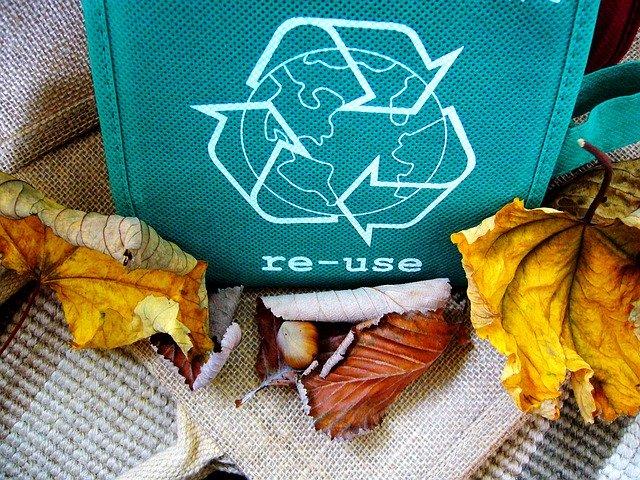 Tasche mit wiederverwertungs Symbol